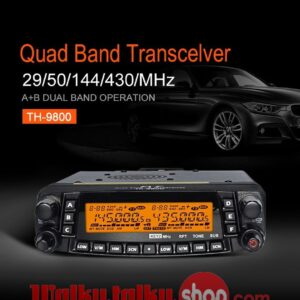 TYT TH-9800 Quad Band Mobile Radio Station Cross Band Transceiver 50W Long Distance Walkie Talkie