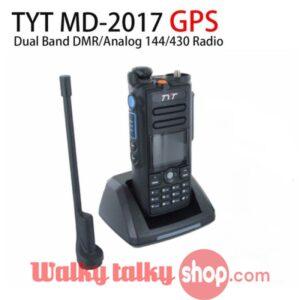 Analog DMR Dual Band TYT MD-2017 GPS Digital Two Way Radio 144/430