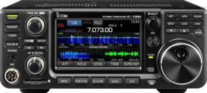 Icom IC-7300 HF/50 MHz Direct Sampling Base Transceiver with Touch Screen Color TFT LCD 100 Watts