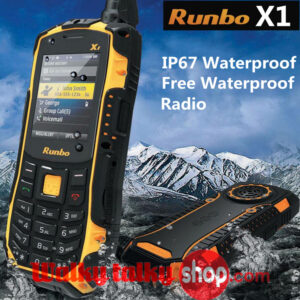 Runbo X1 Mobile Phone Ip67 WaterProof Dustproof Handheld Two Way Radio VHF 136-174MHz UHF 400-470MHz