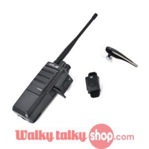 Mini Ear-hook Bluetooth Earpiece with Finger PTT For Kenwood HYT Baofeng Wouxun VHF UHF Radios