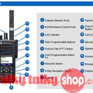Motorola DP4800 DP4801 Digital Radios UHF VHF Handheld Walkie Talkie