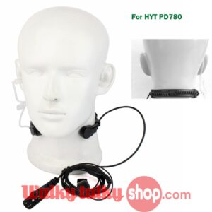 ​FBI Extendable Throat Microphone Headset for HYT PD782 PD700 PD780 PD702