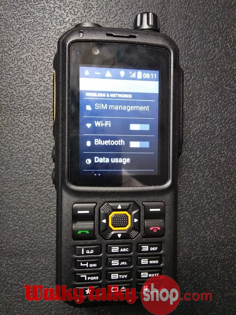 Inrico T298S SIM Smart Android Phone UHF VHF Walkie Talkie Public Network  GPS Wifi Wcdma