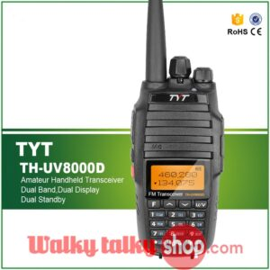 TYT TH-UV8000D Dual Band Cross Band 10W Amateur Handheld Transceiver
