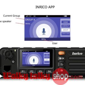 Inrico TM-7 Wifi GSM WCDMA 3G SIM Network PTT Mobile Car Radio with Touch Screen Presale