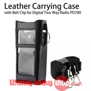 Walky Talky Leather Carrying Case with Belt For HYT PD780 Digital Two Way Radio