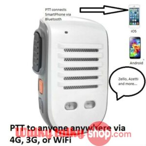 Walkie Talkie PTT Speaker Mike 4 iPhone for Zello Azetti Voxer TiKL ESchat GroupTalk Prof Bluetooth iOS/Android