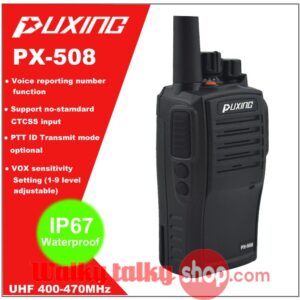 IP67 Waterproof Dustproof Puxing PX-508 Walkie TalkieFor Water Marine