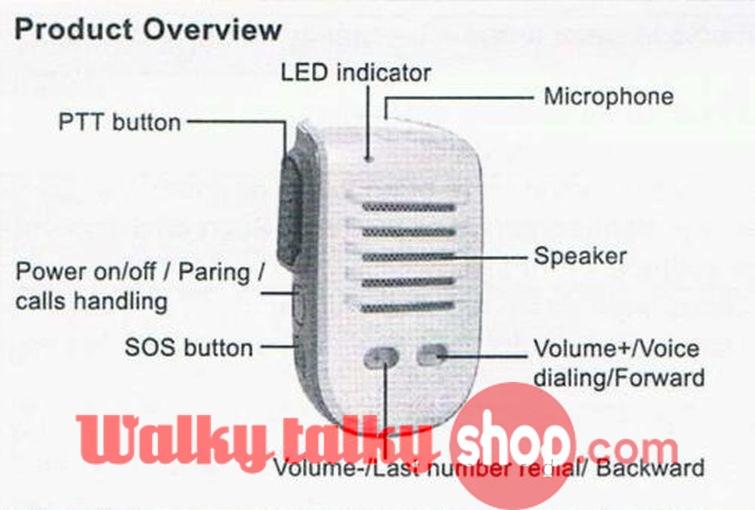 Walkie Talkie PTT Speaker Mike 4 iPhone for Zello Azetti Voxer TiKL ESchat  GroupTalk Prof Bluetooth iOS/Android