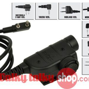 Element U94 PTT Military Headset Adaptor for ICOM Motorola Kenwood Yaesu MOBILE PHONE MIDLAND