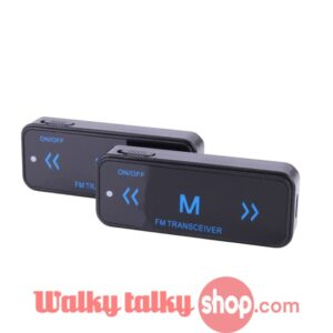 Mini Walkie Talkie UHF 400-480MHz with USB Power Supply Earpieces Invisible Two-Way Radio Spy Transceiver