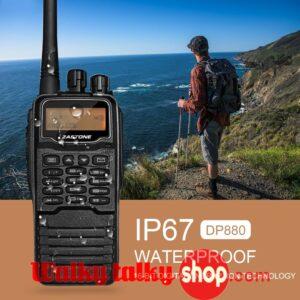 Hunting DMR Digital Portable Radio Zastone DP880 IP67 Waterproof UHF 400MHz-470MHz