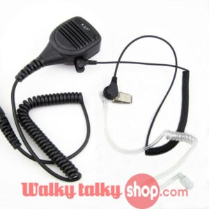 Heavy Duty Speaker Microphone Mic PTT IP54 Waterproof for Kenwood Baofeng Hytera Two Way Radio