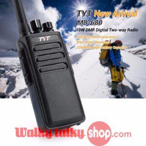 TYT MD-680 DMR IP67 Waterproof Handheld Digital Walkie Talkie UHF VHF Digital Mobile Two Way Radio
