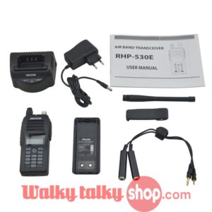 VHF Air Band Radio RHP-530E TX 118.000-136.975 MHz RX 108.000-136.975 MHz