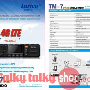 Updated Inrico TM-7 Plus 4G LTE Mobile Network Radio Wifi GSM WCDMA