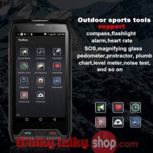 Conquest S11 SmartPhone Zello NFC IP68 Waterproof 6GB RAM 128GB ROM Octa Core Fingerprint