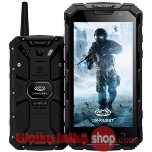 New Conquest S8 Smartphone 4G LTE Android 6.0 UHF Two Way Radio IP68