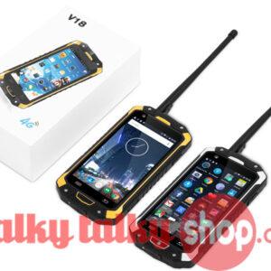 V18 4G LTE Android Smartphone 4.5 Inch IP68 Waterproof UHF Network Radio