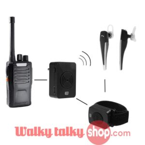 Bluetooth Hands-free Walkie Talkie Wireless Headset 2 Way Pin Plug K M Type