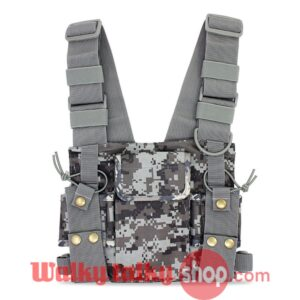 General Radio Camouflage Color Pouch Chest Rig Bag Vest Pocket Holster Bag