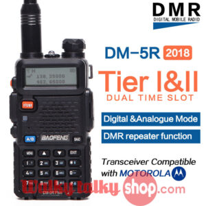 2018 Baofeng DM-5R Plus DMR Digital Two-way Radio Compatible with Motorola