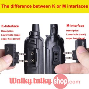 2018 New V4.0 K/M Interface Walkie Talkie Handsfree Bluetooth Wireless Earpiece