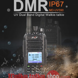 Newest TYT MD-UV390 GPS IP67 Waterproof Dual-band DMR Digital/Analog Radio