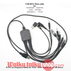 2018 Mobile Radio Walkie Talkie Multifunction 8 in 1 USB Programming Cable