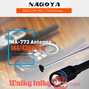 Nagoya NA-773 SMA-F 144/430Mhz Dual Band Flexible Whip Handheld Antenna