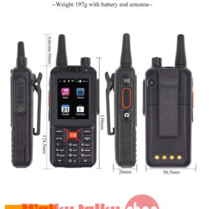 RealPTT Zello 4G Android Walkie Talkie F25+ Plus Phone