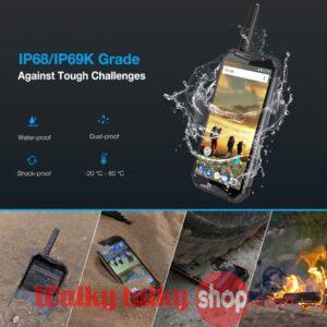 4G LTE DMR Zello Tri-proof Digital Walkie Talkie Smartphone