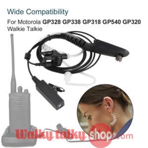 4ft Radiation-proof Motorola Walkie Talkie PTT Acoustic Tube Earpiece