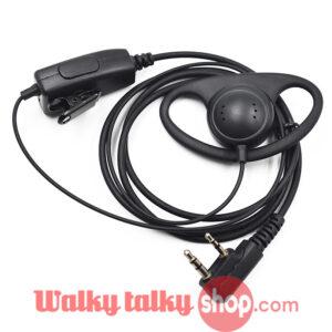 Cheapest Walkie Talkie FBI D-Ring EarHook Earpiece Headset PTT Mic