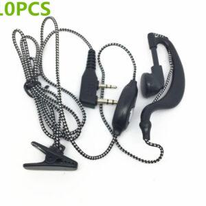 Kenwood TK3107 Baofeng 5R Wouxun KG-UVD1P Radios Woven wire Headsets