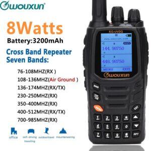 Wouxun KG-UV2Q High Powerful 7 bands/Air Band Handheld Radio