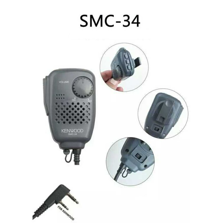 SMC-34 Mic Can adjust the volume for walkie talkie microphone TH-F6A//F7A