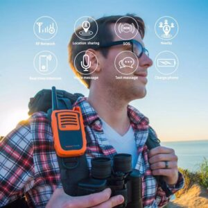 1 Pair Power Talkie PT01 Phone GPS Network Walkie Talkie Bluetooth APP Radio