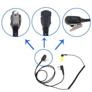 Two WayRadioHeadphone Headset 2 Pin PTT For kenwood Baofeng UV-5R BF-888S