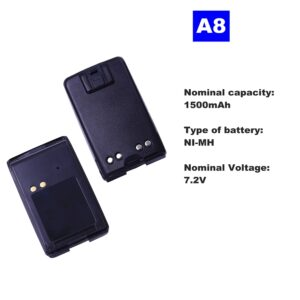 Motorola A8 Walkie Talkie 7.2V 1500mAh NI-MH Radio Battery