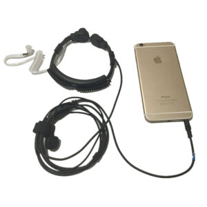 Iphone/Xiao mi/Hua wei/Sam sung/Sony/Mei zu etc Phone Flexible Throat Mic jack 3.5mm Acoustic Tube Earpiece