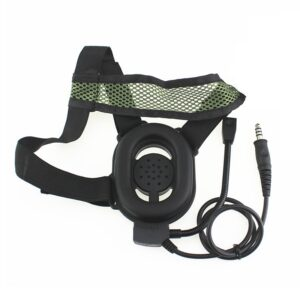 HD01 Tactical Bowman Elite II K Head Walkie Talkie Headphone With U94 Style PTT 2 Pin