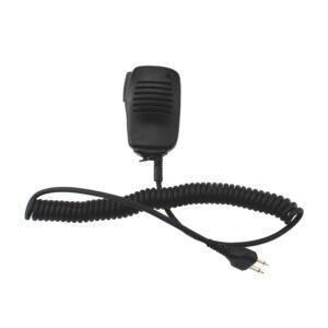 2Pin Mini PTT Speaker Microphone for ICOM IC-V8 IC-V82 IC-F3 SL25 V80 Cobra Vertex VX-200 Two Way Radio