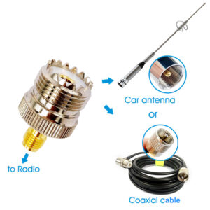 Walkie Talkie Mobile Radio Antenna SMA Female UHF SO239 PL259 RF Coaxial Coax Connector