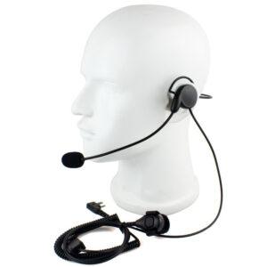 Walkie Talkie K Head Unilateral Headphone Mic Finger PTT Neckband Earpiece Cycling Field Tactical Radio Headset