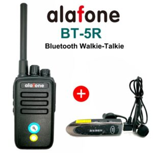 Alafone BT-5R Wireless Bluetooth UHF Protable Walkie Talkie