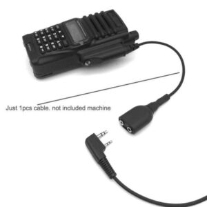 Walkie Talkie Audio Cable Adapter K Interface 2Pin UV-5R Headset Port for Baofeng BF-9700 A-58 UV-XR UV-5S GT-3WP UV-9R Plus