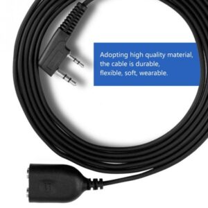 Kenwood TYTPuxing Wouxun Baofeng UV-5R UV-82 Headset Speaker Mic Extension Cable